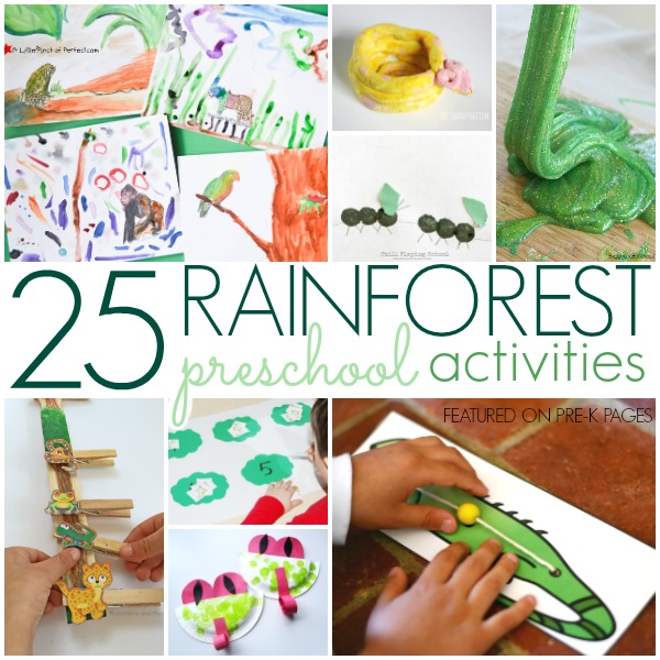 rainforest activities for preschoolers pre k pages. Black Bedroom Furniture Sets. Home Design Ideas