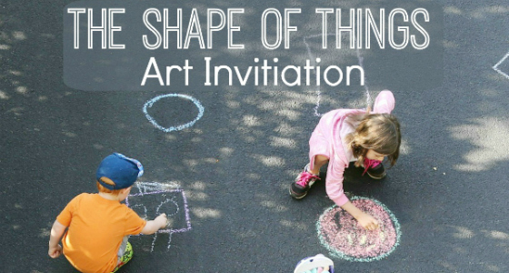 The Shape of Things Chalk Drawings