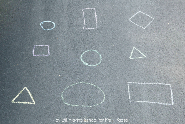 chalk shapes activity
