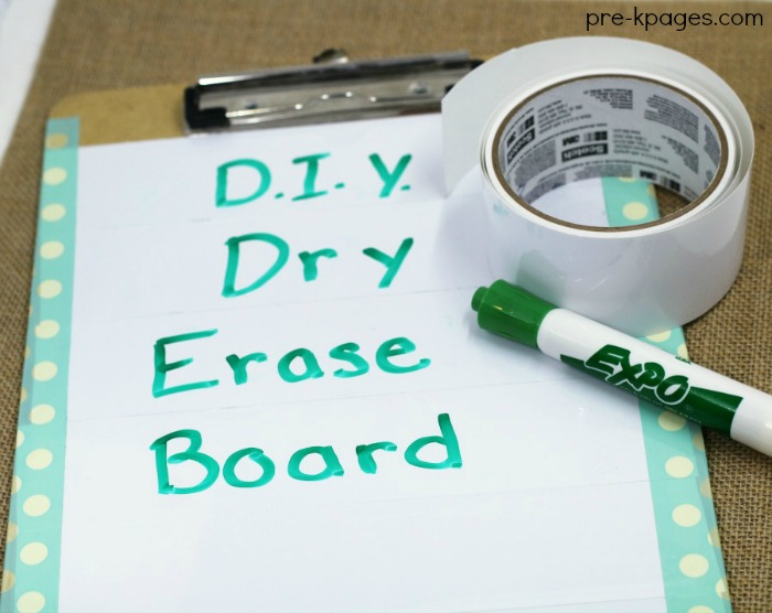 DIY Dry Erase Tape Board