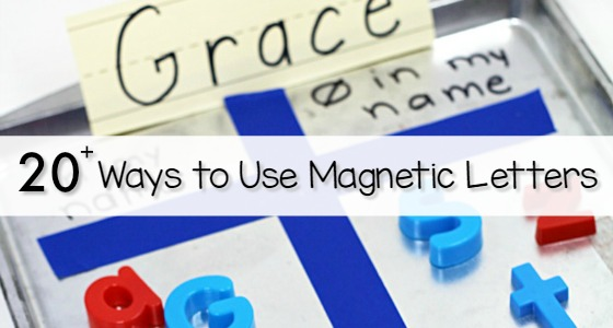 20+ Ways to Use Magnetic Letters