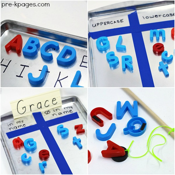 Magnetic Letter Activities for Preschool