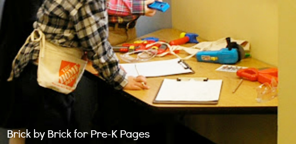 dramatic play tools and clipboards