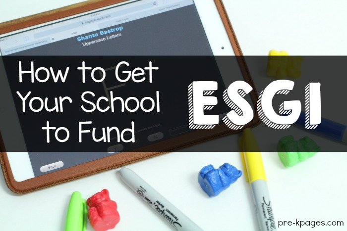 How to get your school to fund ESGI
