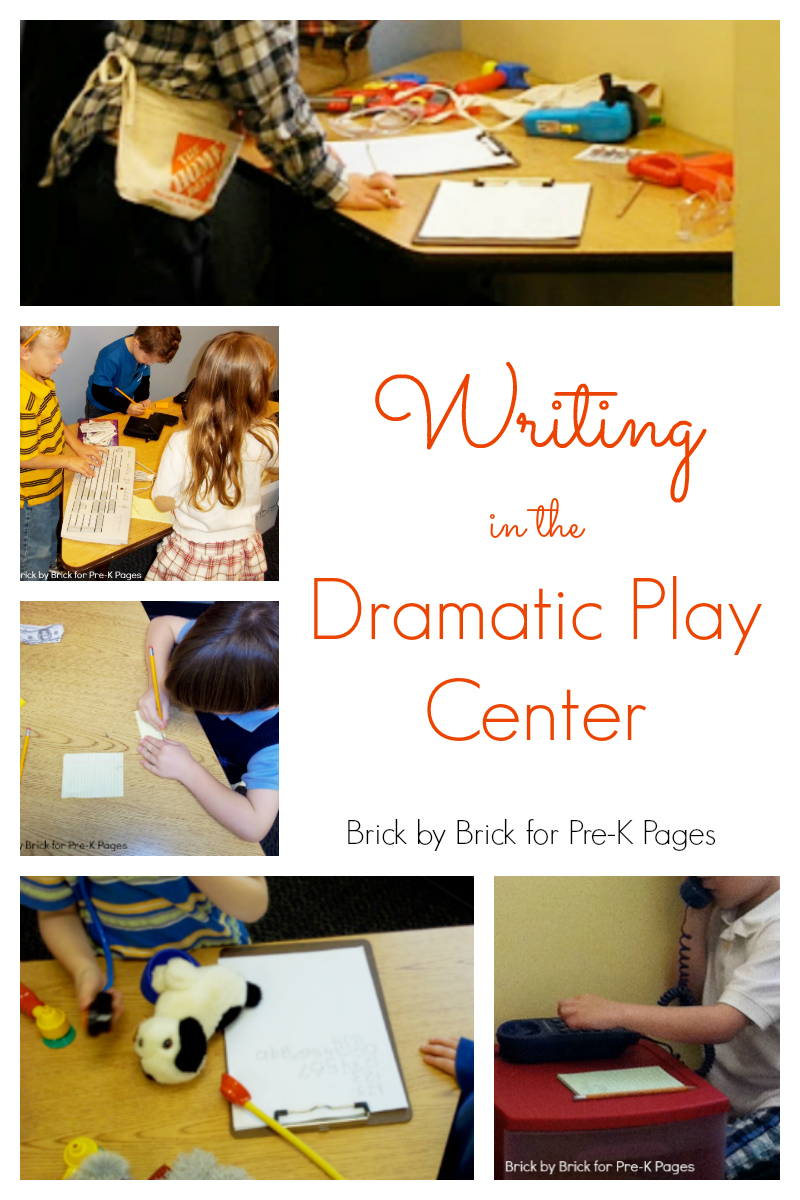 writing in the dramatic play center preschool