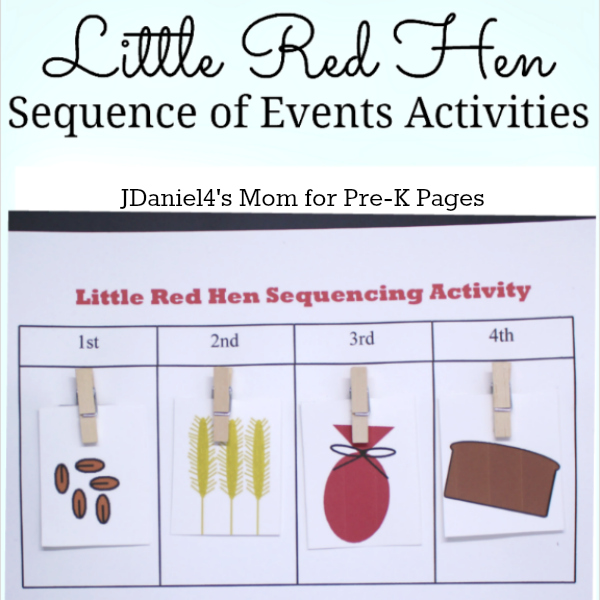 Practicing Sequencing Skills with The Little Red Hen - Pre-K Pages