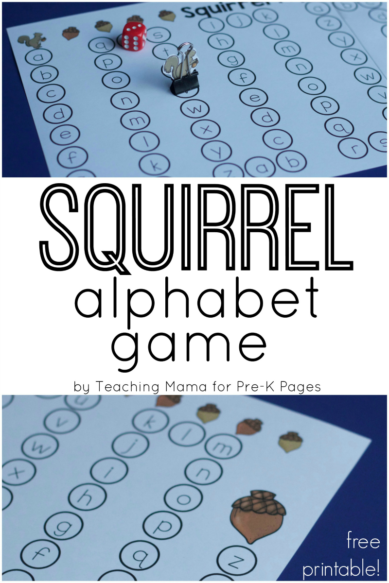 Squirrel Alphabet Game for preschool