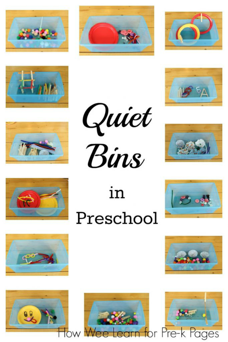 Classroom Ideas For Preschoolers ~ Getting the most from quiet bins pre k pages
