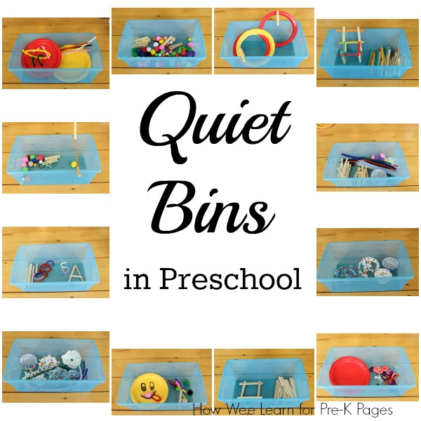 Quiet Classroom Ideas ~ Getting the most from quiet bins pre k pages