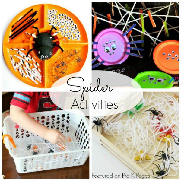 spider activities prek halloween