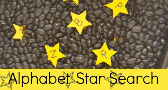Alphabet Star Search Sensory Bin