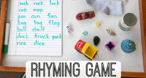 Rhyming Game with Household Objects