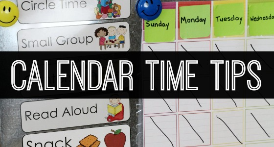 Preschool Calendar Time Routine