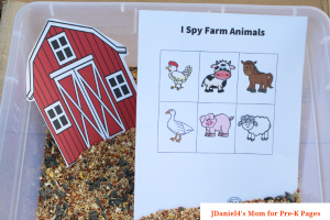 farm I Spy printables