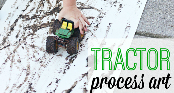 Tractor Mud Painting Process Art Activity