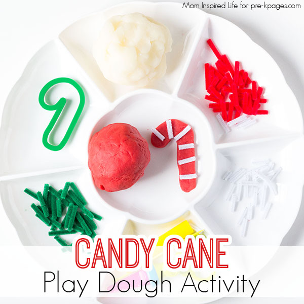 candy cane holiday play dough