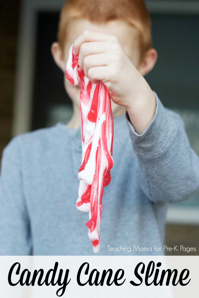 candy cane slime for preschool