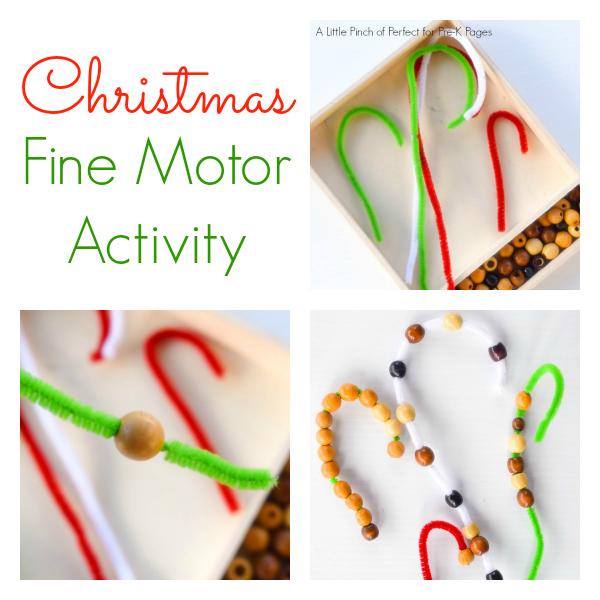 christmas fine motor activity pre-k