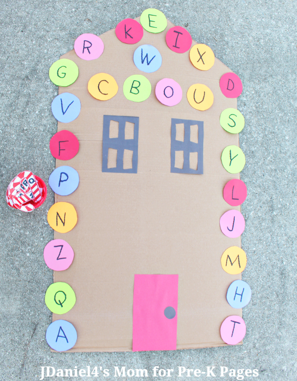alphabet Christmas matching game