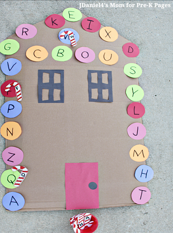 candy cane letter game for pre-k
