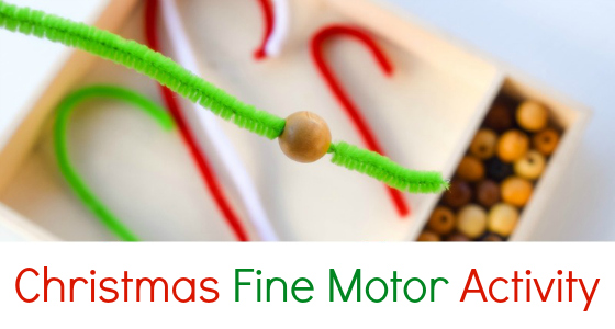 Christmas Candy Cane Fine Motor Activity
