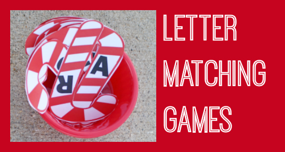 letter matching games holiday