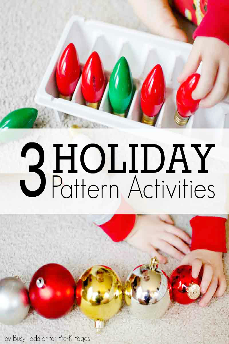 holiday pattern activities for preschool