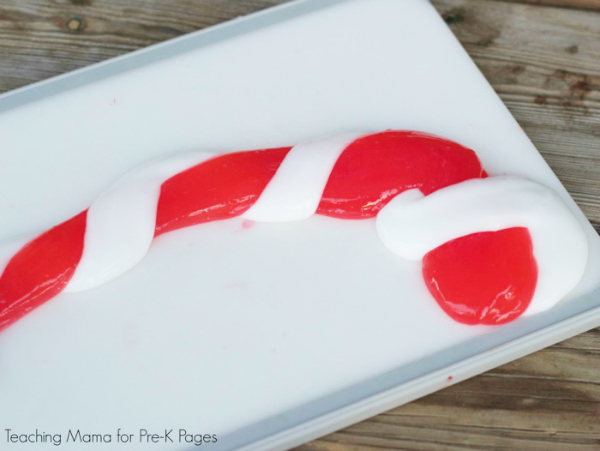 peppermint candy cane slime