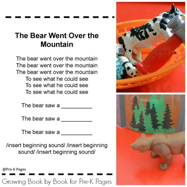 Bear Theme Phonemic Awareness Pre-K