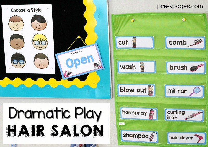 Dramatic Play Hair Salon Printables Pre K Pages