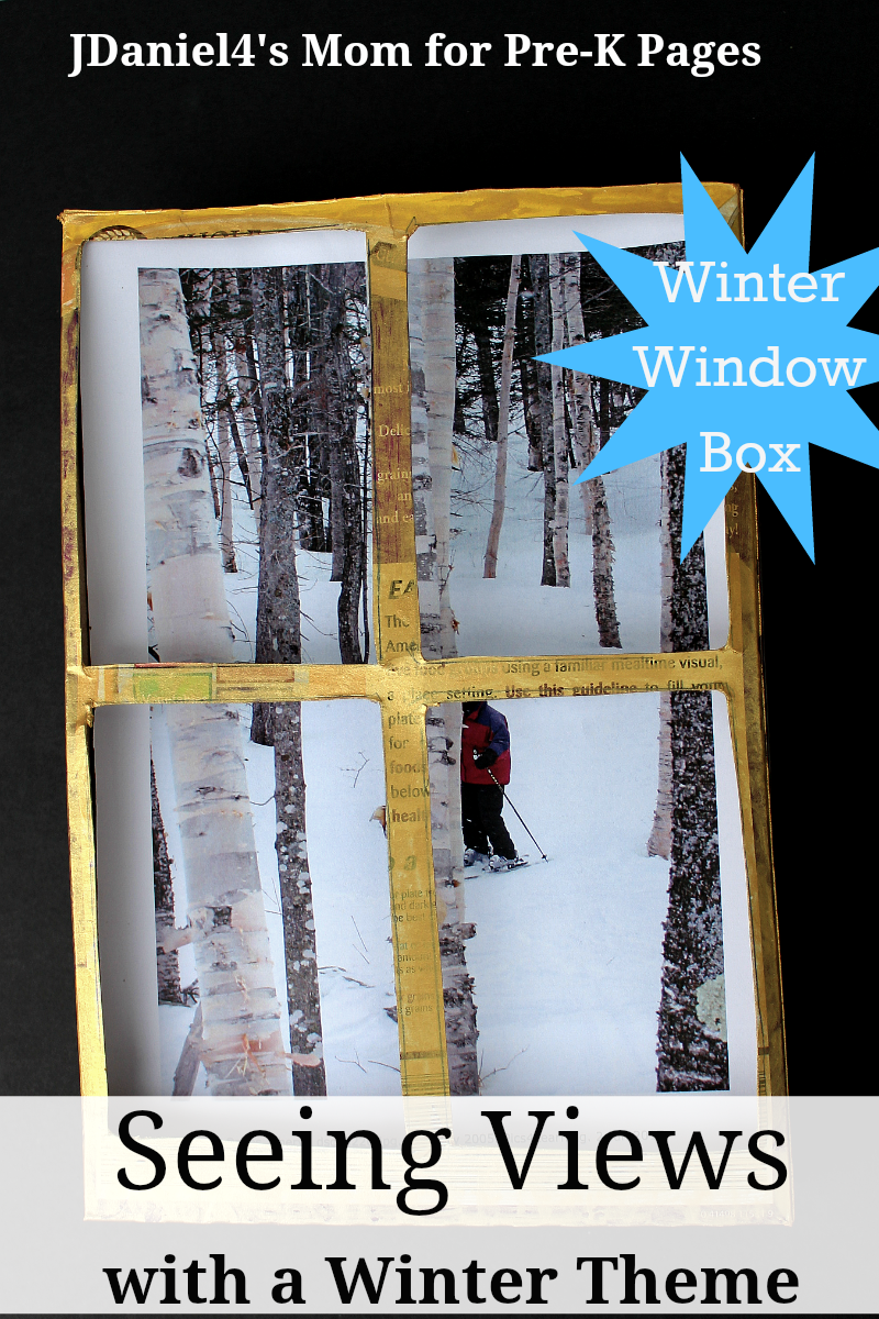 winter window box seeing for preschool