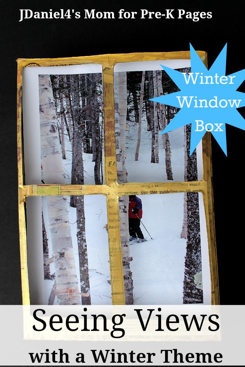 winter window box seeing for preschool