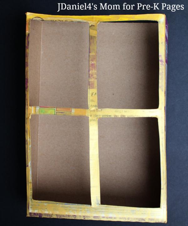 DIY window box picture viewer pre-k