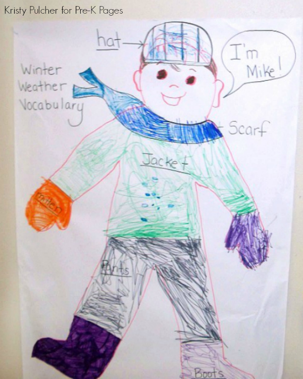 jacket I wear in the snow book activity