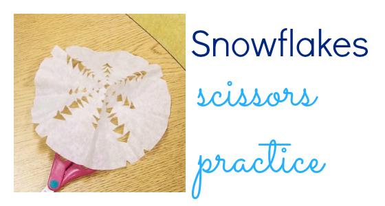Snowflakes Scissors Practice