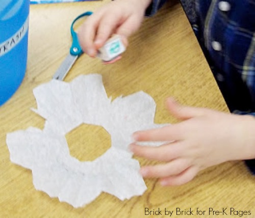 coffee filter snowflakes winter