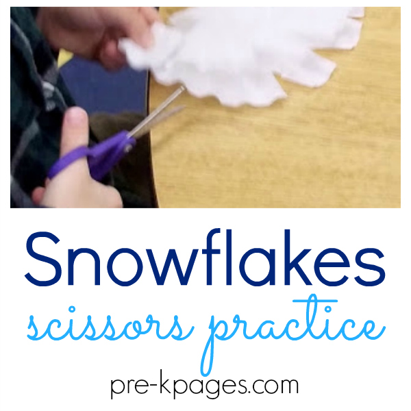 snowflakes cutting for preschool