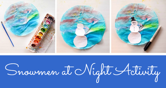 winter art activity preschool