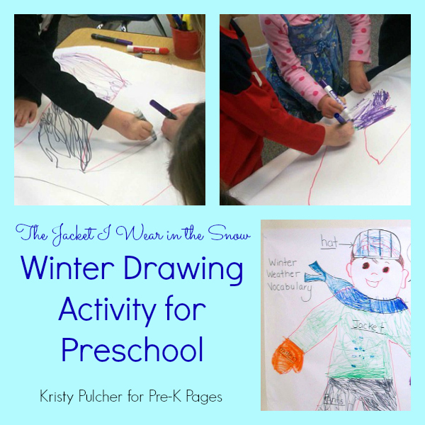 winter clothing drawing activity
