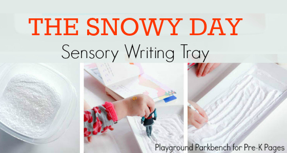 The Snowy Day Sensory Writing Tray