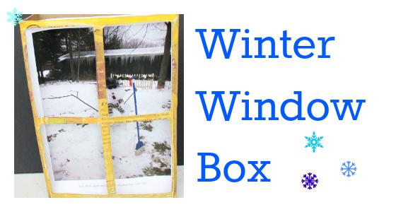 winter window box preschool