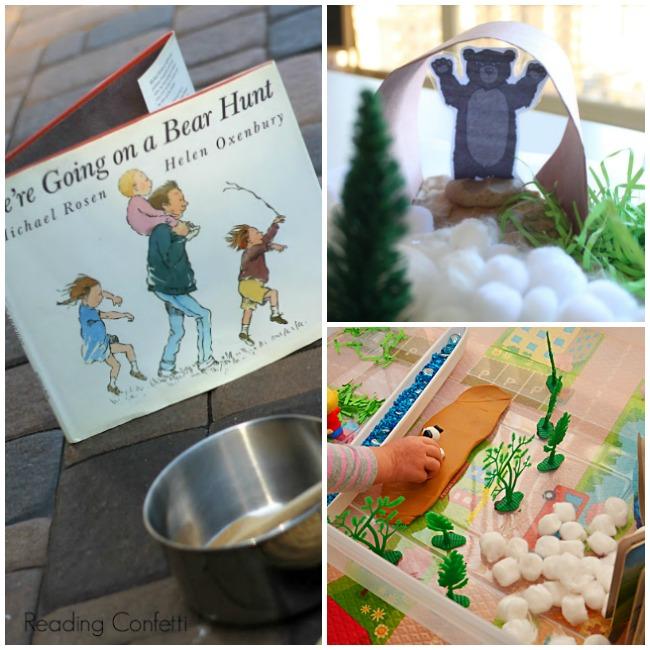 Bear Hunt Book Inspired Snack Activity for Preschool