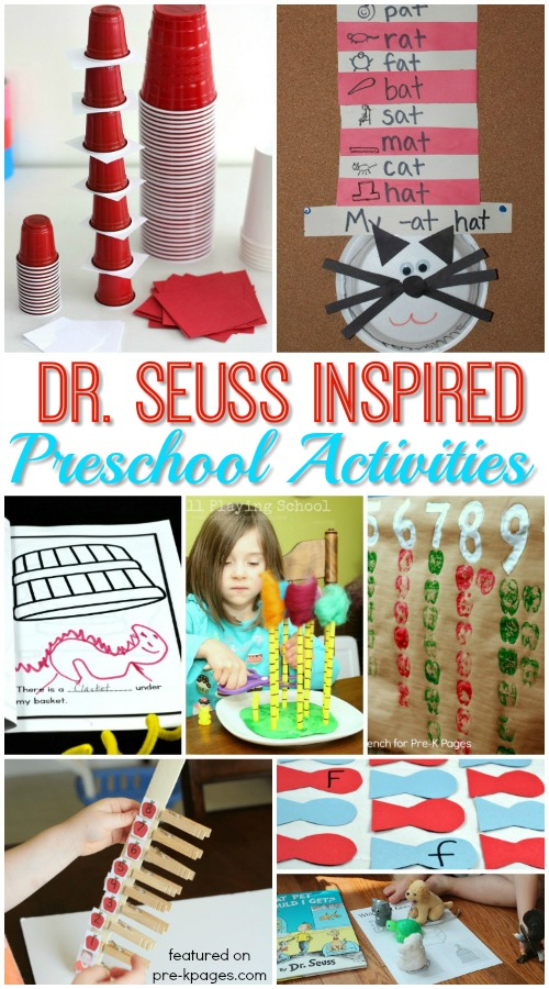 Dr Seuss Week Activity Ideas for Preschool