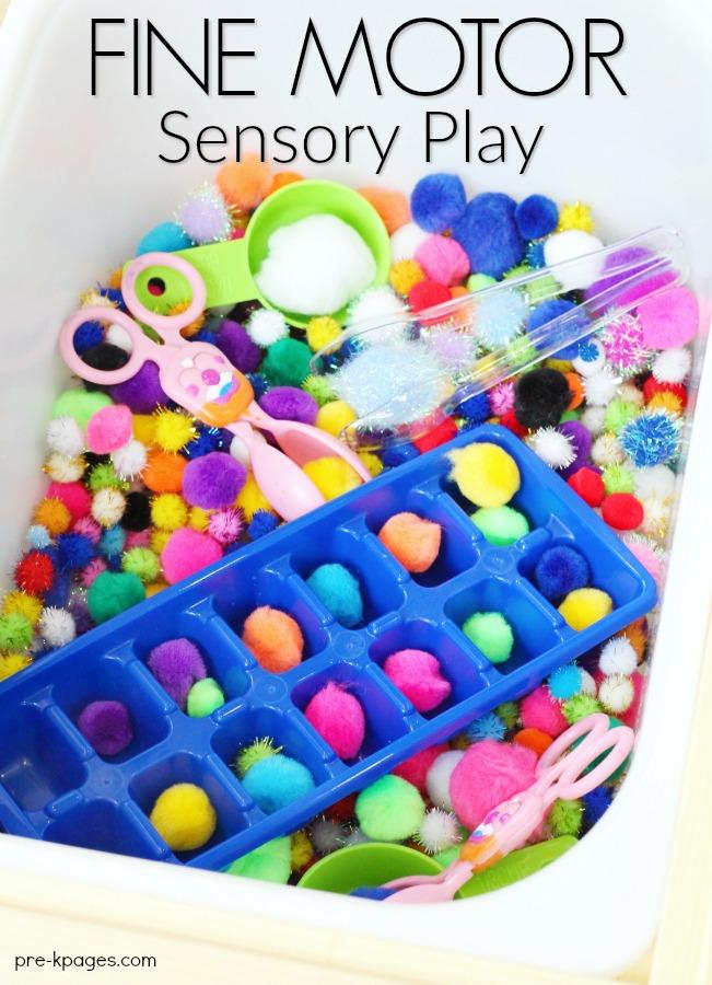 Fine Motor Sensory Bin Play
