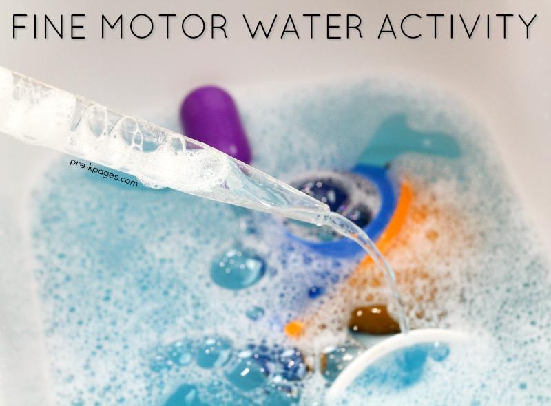 Fine Motor Water Activity in Preschool