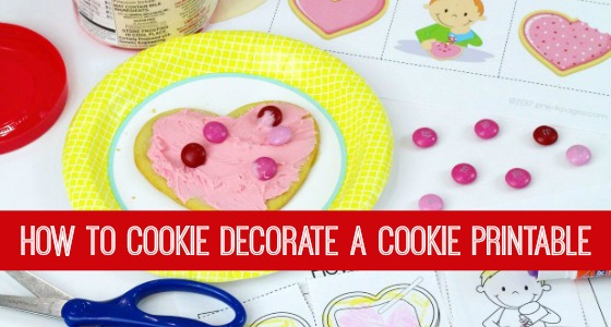 How to Decorate Valentine Cookies Printable Slider