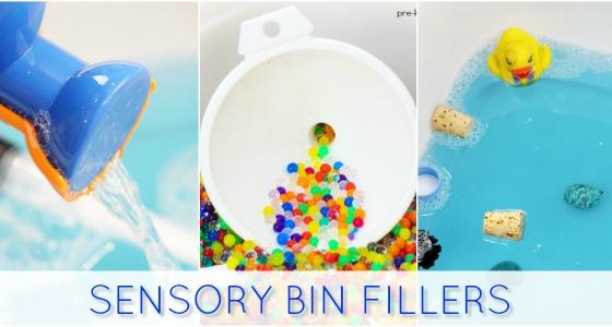 Sensory Bin Fillers for Sensory Play in Preschool
