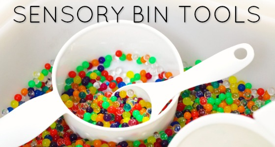 Sensory Bin Tools from the Dollar Store