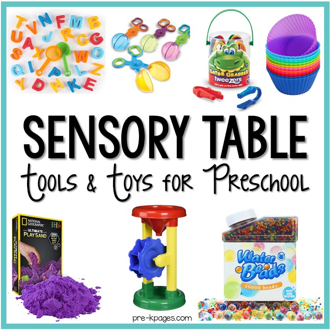 Toys For A Preschool Classroom : Sensory table tools and toys for preschool pre k pages