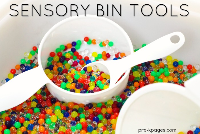 Tools for Sensory Bins in Preschool